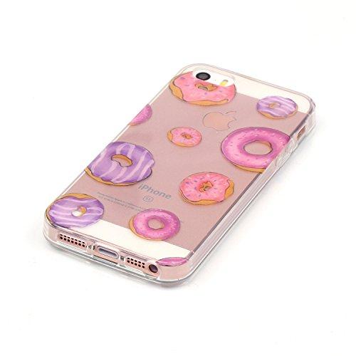 TPU Silikon Schutzhülle Handyhülle Painted pc case cover hülle Handy-Fall-Haut Shell Abdeckungen für Smartphone Apple iPhone 5 5S SE +Staubstecker (10FN) 8