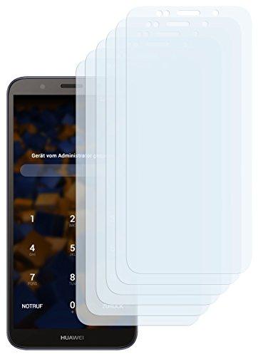 mumbi Schutzfolie kompatibel mit Huawei Y5 2018 Folie klar, Bildschirmschutzfolie (6x)
