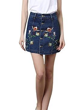 Vaquero Mini Falda Jeans Cortas Para Mujer