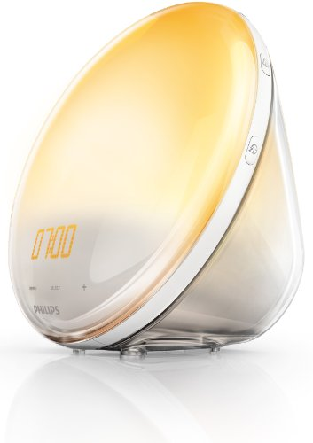 Philips HF3520/01 Wake-Up Light (Sonnenaufgangfunktion, digitales FM Radio, Tageslichtwecker) weiß