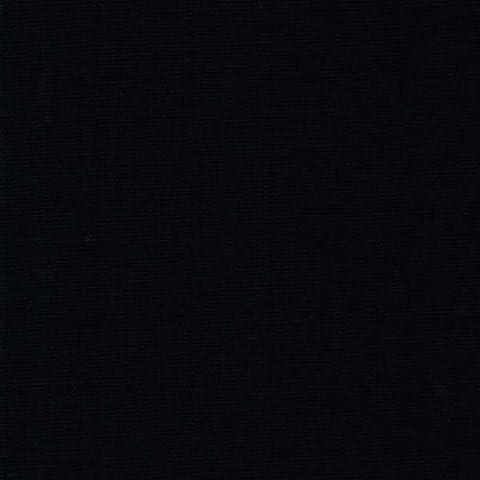 58 Black Ponte Roma Solid Knit Fabric, Fabric by the yard - 1 Yard by Stylishfabric