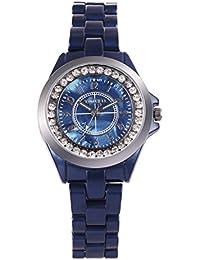 Time100 Analógico Cuero genuine Diamante W50297L.03A Diseño de Rosa