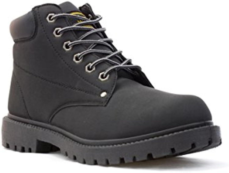buy online 5e530 5ea9c ... Earth Works - Bota Acordonada, para Hombre, en Negro EarthWorks quality  products 42ce5 76fea Bota adidas x ...