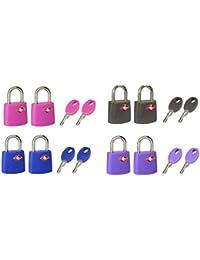 Master Lock 4695EURTAST Candados para Equipaje, Multicolor, Set de 2 Piezas