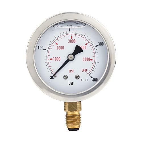 Hydraulikschlauch Test Kit, Hydraulikschlauch Manometer Kit, Punktkupplung M16x2 BSP1/4 + 0~400 BAR / 6000 PSI Manometer + 1,5 m Schlauch