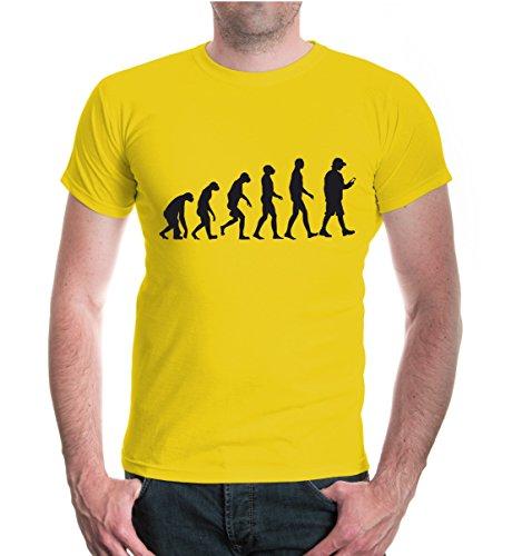buXsbaum® T-Shirt The Evolution of Catching Yellow-Black