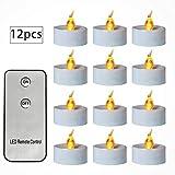 Flackernde Kerze beleuchtet Fernbedienung flammenlose Led-Kerzen-Teelicht batteriebetriebene Innendekoration Lampe für Notfall, Weihnachten, Valentinstag, Partymittelstück, Geburtstag