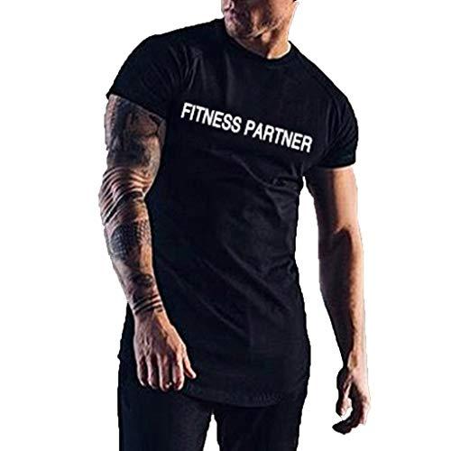 Bike-ernährung-box (UINGKID Herren T-Shirt, Kurzarm Top Shirt Schlafanzugoberteil Sommer Fashion Fitness mit kurzen Ärmeln Brief Druck Bluse)