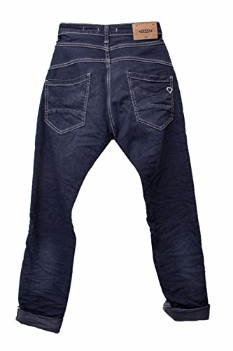 PLEASE JEANS DONNA BAGGY BOYFRIEND P78 Denim scuro