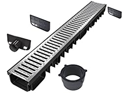 Drainage channel 5 m (all-in-one kit) | galvanised class B125 (12.500 kg) | Type 50 (drainage channels)