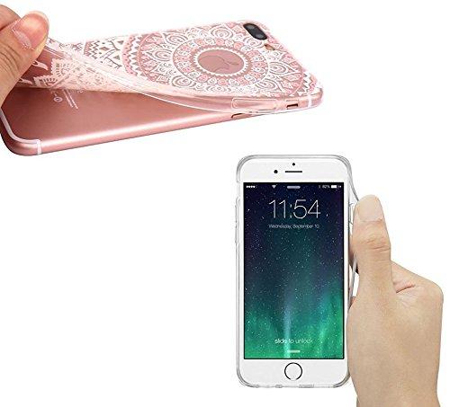 Qissy® Schutzhülle für iPhone 7 plus Hülle Case TPU Schutzhülle Crystal Case Hülle Schlank Transparent Weicher Gel Silikon Handy Hülle Bunt Telefon Kasten Abdeckung Case Farbige Fenstergitter (19) 14