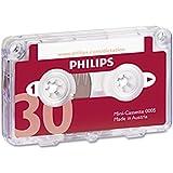 Philips Mini-cassette pour dictaphone 30 min 15 min par face Ref 0005 Pack de 10