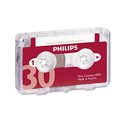 philips-lfh0005-mini-cassettes-pack-of-10-30-minute-dictation-and-transcription-for-philips-analogue