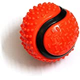Foodie Puppies Aggressive Chewers - Extra Durable - Nearly Indestructible Big Rubber Ball Toy for Adult Dogs (Color May Vary)