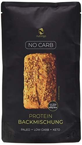 No Carb Eiweißbrot Backmischung - 3er Pack | 20{c82de0817cd745ed2e7cc63d6863e68b1d5ee86feb51b8711af8fa0d4508be7e} Protein für 1,5 kg Brot | Ohne Kohlenhydrate | Ohne Getreide | Ohne Gluten | für Paleo, Keto, Low Carb Diät & Muskelaufbau | auch für Diabetiker