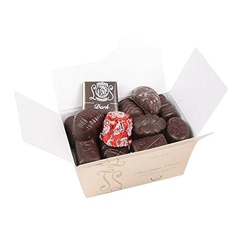 Belgische Leonidas Zartbitterschokolade: Luxuriösen Mischung Von 14 edle pralinen In Geschenkbox.