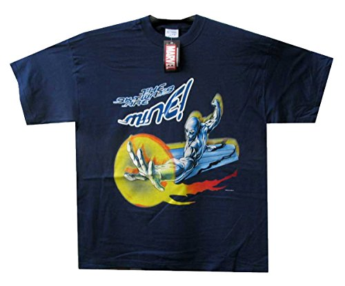 T-Shirt Silver Surfer, Mine , blau, XL