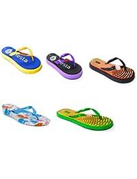 11E Women Flip-Flops & House Slippers Combo Slippers