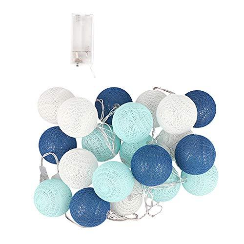Pottoa 3Meters 20 Cotton Ball String Lights Fairy Hanging Hochzeit Schlafzimmer Wohnzimmer...