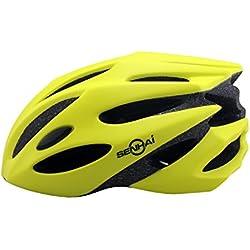 Kounga Senhai Casco para Ciclismo Montaña, Unisex Adulto, Amarillo, M (55-58 cm)