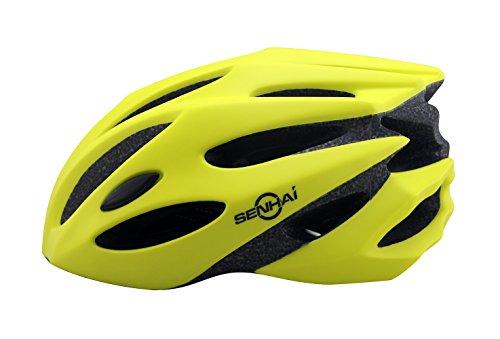 kounga Senhai casco para bicicleta de montaña, Unisex, color amarillo, tamaño medium