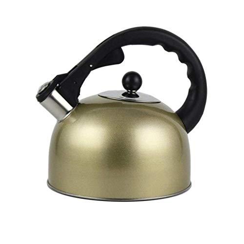 Cxmm Edelstahl Herd Pfeife Verdickung mit großem Fassungsvermögen 3L, braun, a (Tee-und Wasserkocher Ruhigen)