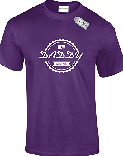 DADDY SINCE personalisierbar mit jedem Jahr der Ihrer Wahl. Herren Unisex Erwachsene T-Shirts. KOSTENLOSE LIEFERUNG IM LIEFERUMFANG ENTHALTEN. Violett - Violett
