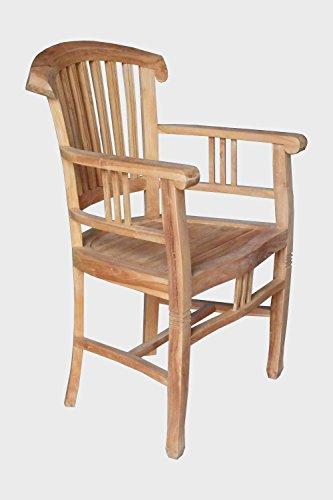 BEHO Natürlich gut in Holz ! 2 Ramsessel mit Arm 60x60x94 cm Teakholz selected Kernholz unbehandelt zusammengebaut
