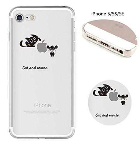 Cover iPhone 6 Plus Custodia telefono creativo trasparente silicone Guscio morbido Anti Graffio Copertura protettiva Anti-polvere paraurti Si applica a iPhone 6/6S Plus(5.5) disegno-2