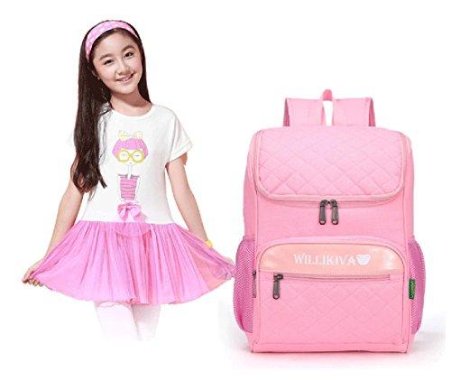 WZW Borse Kid Piazza zaini scuola per gli studenti primaria . red pink