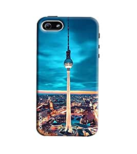 Omnam Torento Tower Printed Designer Back Cover Case For Apple iPhone 5/ 5S