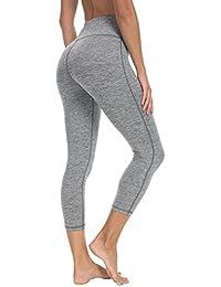 """Queenie Ke Women 22"""" Yoga Capris Power Flex Height Waist Running Pants Workout Tights Legging"""