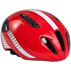 HK-Kensolng Bontrager Team Casco de Bicicleta Aero Casco de Bicicleta para Hombres/Mujeres Casco de Ciclismo Ultraligero TT Triatlón Casco Ciclismo Red M