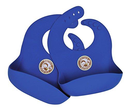 Schmutzabweisendes Silikon lätzchen mit Tasche für Krümel. Leicht zu reinigen – perfekt für kleckernde Babys und Kleinkinder. Tolles Geschenk für die Babyparty | 4 Variationen und 2 Farben zur Auswahl | BPA-frei & FDA zugelassen | Leicht verstellbar (Ein Anderes Wort Für Würde)
