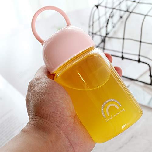 CXXZICASD 250ml Glas kreative ins Wind trinkbecher im freien einfach zu tragen handschale büro Hause studentschale 250ml rosa Regenbogen