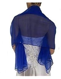 LadyMYP 150*150 cm schick Organza-Stola, Schal mit Perlen dekoriert, mehrere Farben zur Wahl