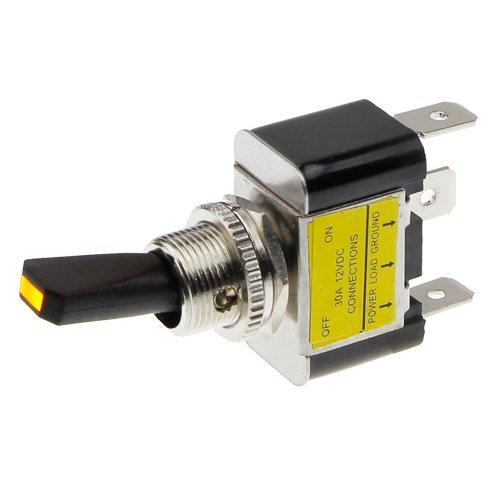 REMCO Kippschalter - Schalter Ein/aus 12V LED Gelb -