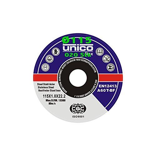 20 Trennscheiben Ø 115mm x 1.0mm für Winkelschleifer Stahl Edelstahl Flexscheibe Inox Metall