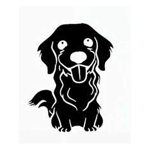 haotong11 12cm * 15.1cm Golden Retriever Silhouette Hund Auto-Styling Auto Aufkleber Vinyl Schwarz/Silber 5 Stück -