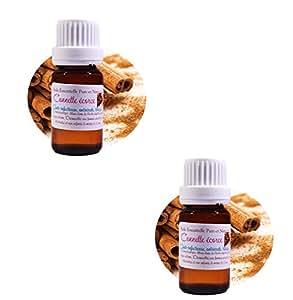 2 Huiles Essentielles HEBBD de Cannelle Écorce 10ML (Cinnamomum zeylanicum)