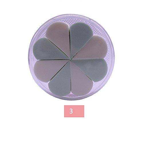 URSING 8 Pcs Tampon de Éponge Maquillage Makeup Sponge Blender Makeup Sponges Flawless Makeup Blender Fondation Puff Éponge en forme de mousse Éponge (N ° 3)