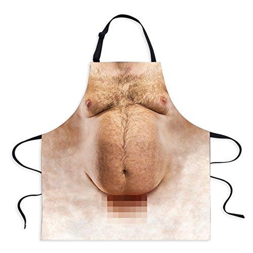 Naughty Kostüm Herren - Sexy Schürze Neuheit Naked Herren Frauen Kochen Grillen Naughty Schürze Funny Creative Thanksgiving Weihnachten Geschenke Men 3