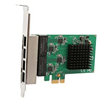 4 Port (Quad) Gigabit Ethernet PCI Express 2.1 PCI-E x1 Network Adapter Card (NIC) 10/100/1000 Mbps Card with Realtek Chipset SI-PEX24042