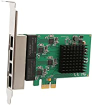 بطاقة محول شبكة 4 منافذ (رباعي) جيجا بت ايثرنت بي سي اي اكسبريس2.1 منفذ الملحقات الاضافية السريع x1(ان اي سي)
