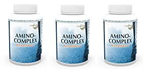 Vita World Pack de 3 Amino complexe + Zinc + Vitamine C 3 x 120 Capsules Acides Aminés Essentiels Made in Germany