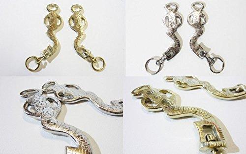 Barocke-Akademische Hackamore Silber oder Gold-Messingfarbig verziert Farbe Silber