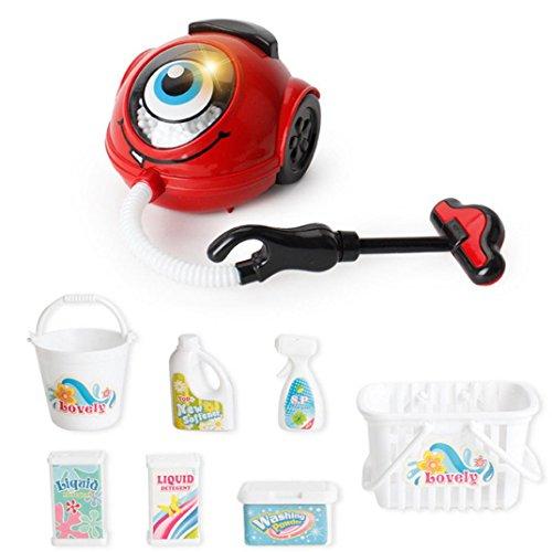 Momola Kinder Spielzeug, Kinder-Staubsauger Spielzeug Set Mini Pretend Play Küche Spielzeug für Kinder