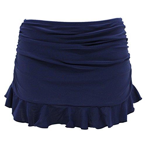 Shekini swim skirt pezzo sotto bikini donna gonna briefs vestito nuotata parte inferiore pantaloni gonna con pantaloncino da nuoto costumi da bagno ruched gonna da spiaggia (medium, blu scuro)