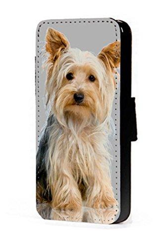 Yorkshire Terrier chien Téléphone portable étui portefeuille en imitation cuir pour iPhone 45C 6S Samsung S6S5S4S3Mini, Cuir synthétique, iPhone 5/5S
