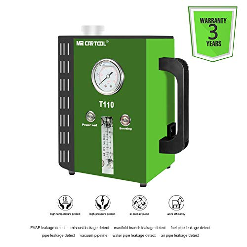 MRCARTOOL T110 Automotive détecteur de Fuite de Carburant, 12 V de Voiture Tuyau systèmes testeur de Fuite Machine pour véhicules/Motos/Bateau (dernière Double Mode d'utilisation)